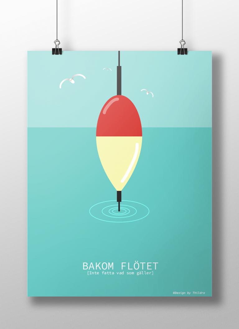 Affisch Bakom flötet