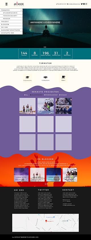 Designförslag webbplats