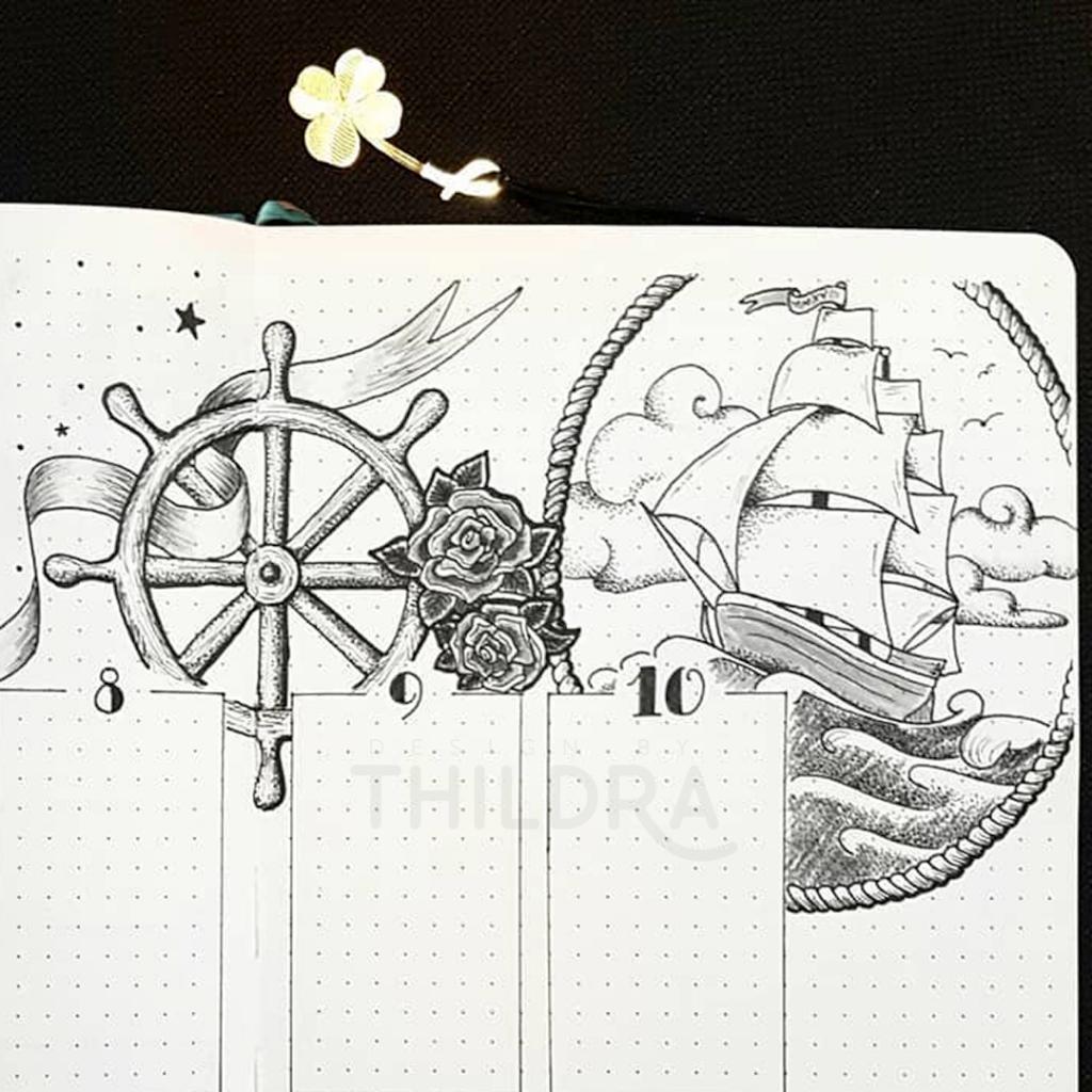 oldschool ship illustration