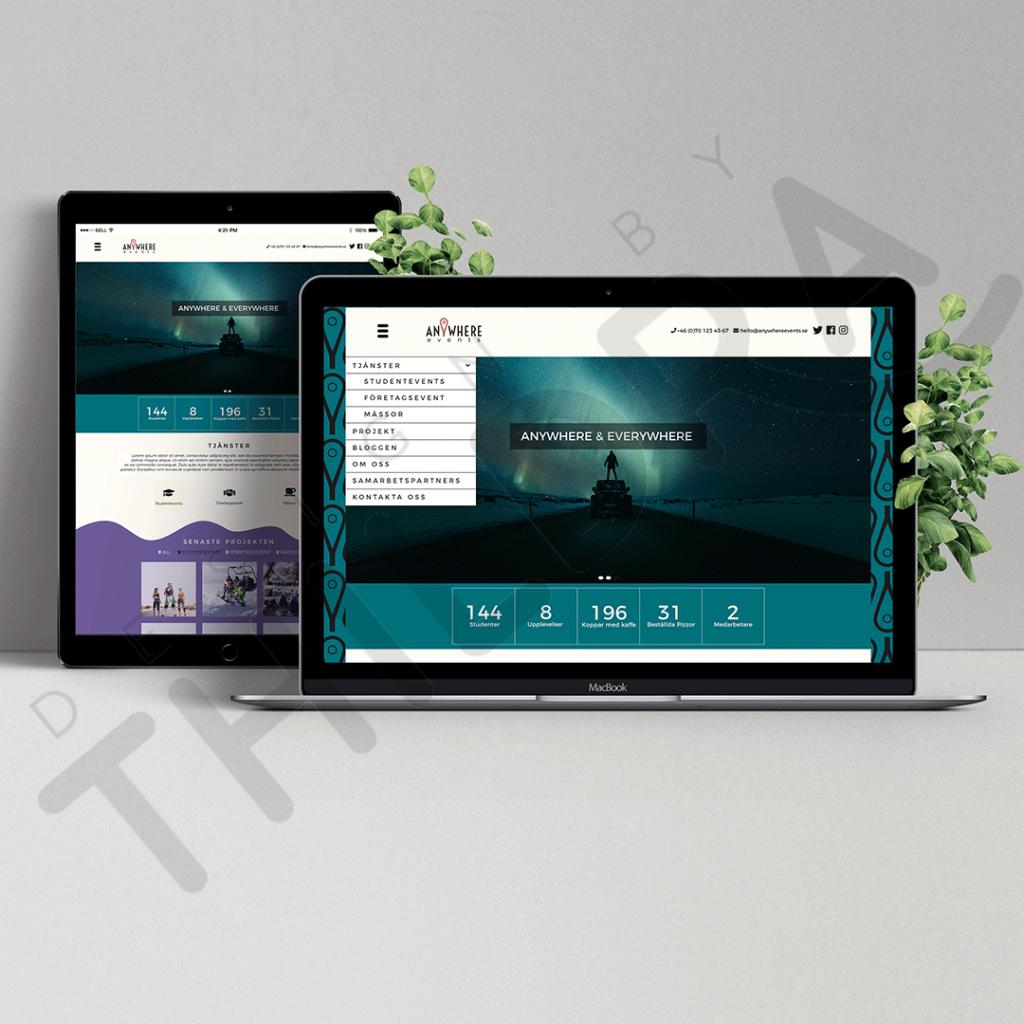 Mockup webbplats