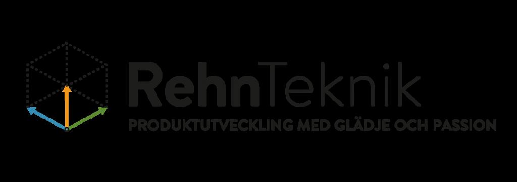 RehnTeknik Logotyp liggande med slogan